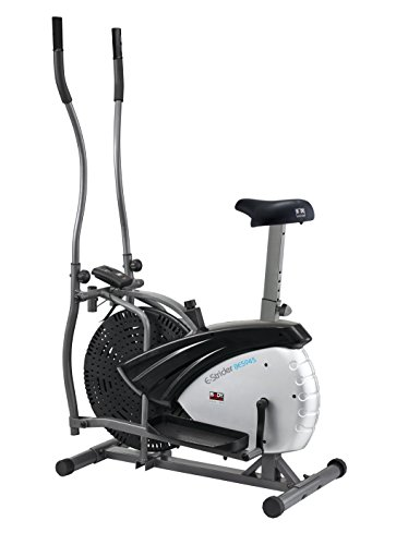Body Sculpture Dual Action 2-in-1 Air Elliptical and Bike - Silver/Black, 91 x 57 x 156 cm