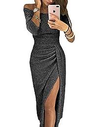 Aleumdr Vestito Donna Senza Spalline Abito Donna Sexy Taglia S-XL e6cfd82d63b