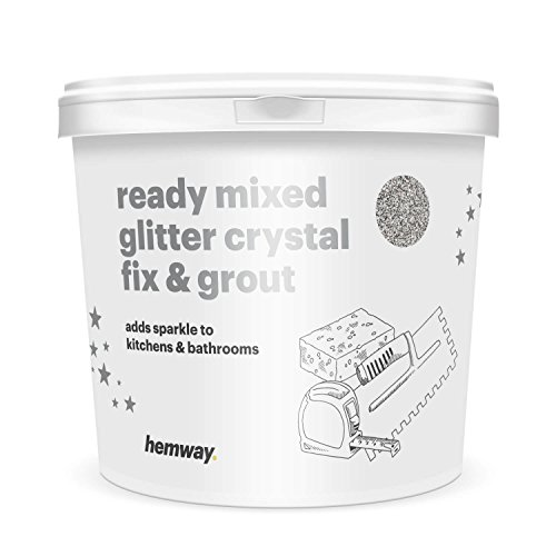 hemway-25l-45kg-ready-mixed-glitter-crystal-fix-grout-white-grout-silver-glitter-for-tiles-wet-room-