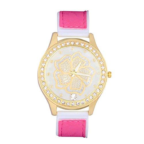STRIPES EID Special Big Dial Crystal Watch For Women & Girls