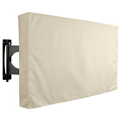 KHOMO Gear 24. Outdoor TV Outdoor TV Cover Beige (tv-cover-24-beige) 60'' - 65'' beige (Outdoor-65-zoll-tv)