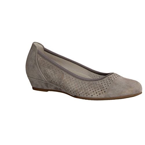 Gabor Comfort 22695-14 - Damenschuhe Modische Pumps / Ballerina, Grau Grau