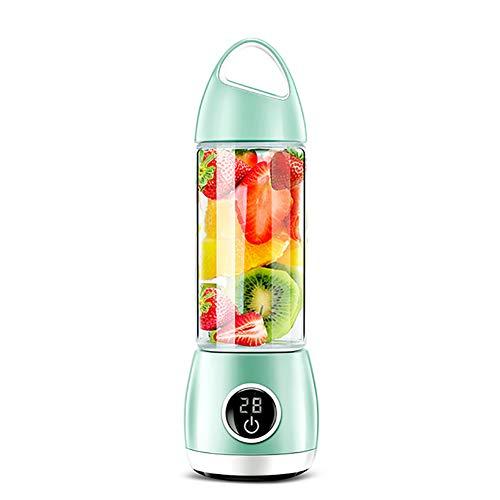 LKSIING Smoothie Flasche 420 ml Portable Flasche für Smoothie Mixer Tritan BPA-freie Travel Wasserflasche Smoothie Blender Bottle,Green (Roter Smoothie Mixer)