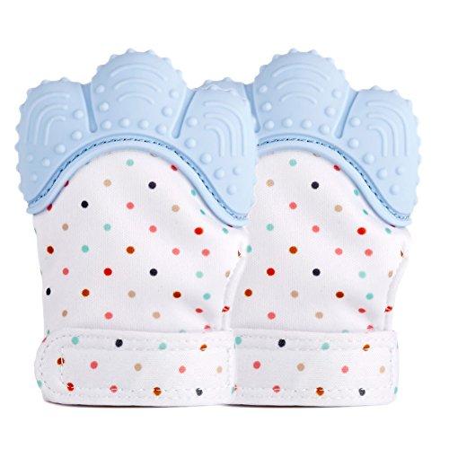Espeedy 1 Paar Baby Schnuller Silikon Beißring Handschuh Kautabletten Newborn Pflege Perlen Baby BPA Frei Beißring (Zahnen Baby-schnelle Schmerzlinderung)