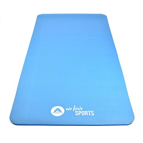 Fitnessmatte 190 x 100 x 1,0 cm - Brahmana - von Apollo, extra große Gymnastikmatte mit Tragegurt aus hochwertigem NBR Schaumstoff für Sport, Gymnastik, Yoga und Pilates - in verschiedenen Farben - Große Matte