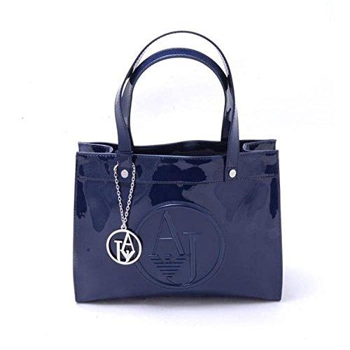 Armani Jeans Shopping bag woman Pvc/Plastic Blue