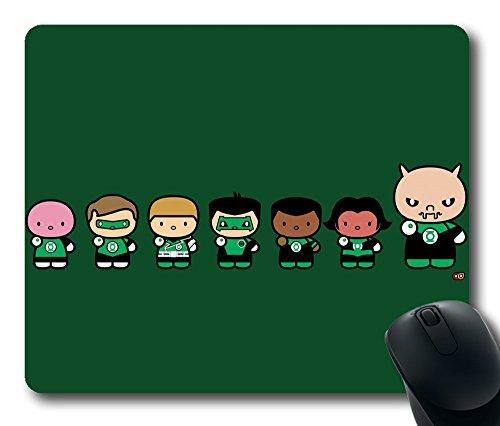 Maus Pad-Chibi Green Lantern Corps Langlebig Office Zubehör Desktop Laptop Mousepad und Geschenke Gaming Maus Pads