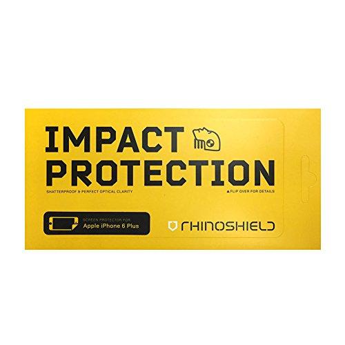 iPhone 6 Plus / 6s Plus Schutzfolie - [RhinoShield] Aufprallschutz [Übersteht Hammerschläge] Kristallklar - Fingerabdruckresistent - Angenehme Oberfläche der Displayschutzfolie [30 Jahre Garantie] (Plus 6 Shield Protector I Phone)