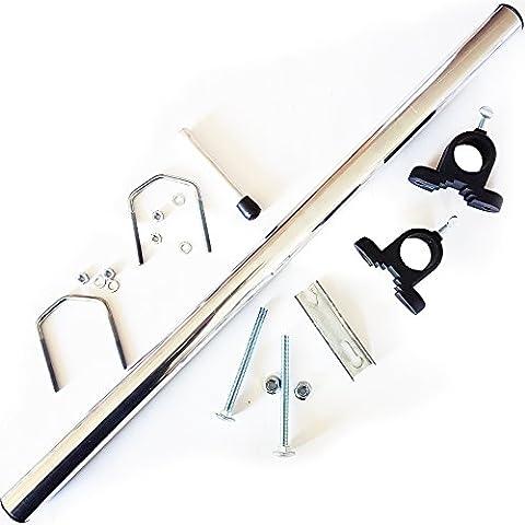 Support Mat Antenne - Pole Mât d'antenne satellite plat/portable/Support/Kit de roue
