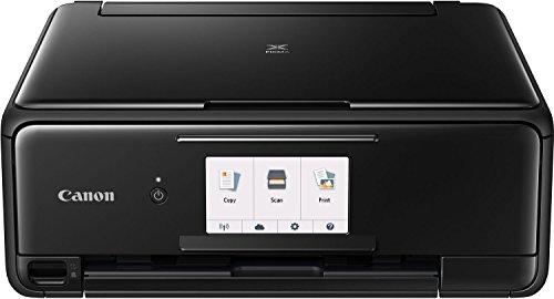 Canon PIXMA TS8150 Tinten-Multifunktionsgerät (Drucken, Scannen, Kopieren, 6 separate Tinten, WLAN, Print App, automatischer Duplexdruck, 2 Papierzuführungen) schwarz -