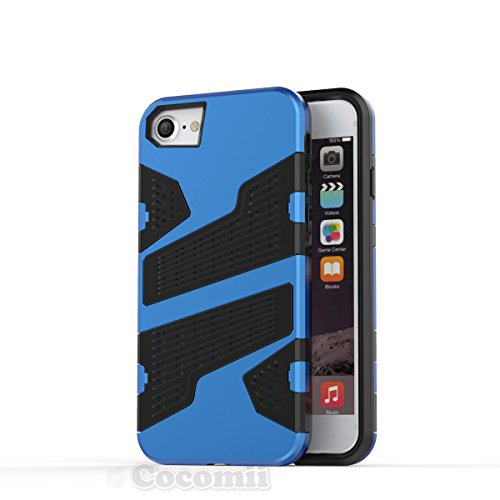 iPhone 8 / 7 / 6S / 6 Hülle, Cocomii Deadpool Armor NEW [Heavy Duty] Premium Tactical Grip Slim Fit Shockproof Hard Bumper Shell [Military Defender] Full Body Dual Layer Rugged Cover Case Schutzhülle  Blue