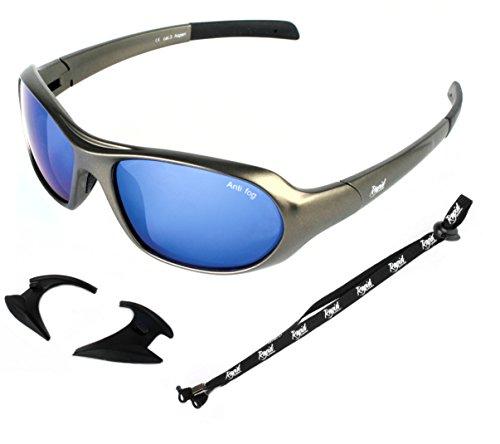 ef7af00b5c Rapid Eyewear, Occhiali da sole sport blu a specchio con laccio - Perfetti  per arrampicata