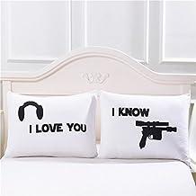"""coppie federe, """"I Love You So"""" & da federa, romantico, regalo per matrimonio, San Valentino Day, Natale, compleanno, fidanzamento I LOVE YOU&I KNOW"""