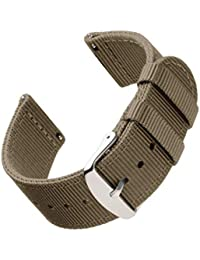 Archer Watch Straps | Repuesto de Correa de Reloj de Nailon para Hombre y Mujer, Correa Fácil de Abrochar para Relojes y Smartwatch | Caqui, 20mm