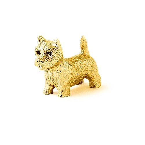 West Highland White Terrier Hergestellt in U.K. Kunstvolle Hunde- Figur Sammlung (22 Karat Vergoldung / gold plattiert) (Figur Terrier Hund Highland White)