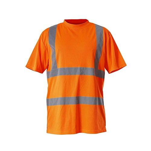 LAHTI PRO L4020701 T-Shirts Warnschutzkleidung GELB Arbeitsshirt Größe, Orange, S/48