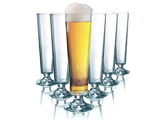 Tivoli Seattle Biergläser | 200 ml | Spülmachinenfest | 6-teiliges Set | Aus Kristalglas