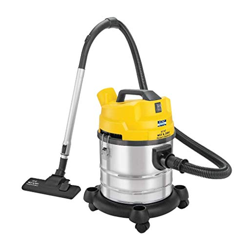 KENT Wet and Dry Vacuum Cleaner 1200-Watt (Yellow & Silver)