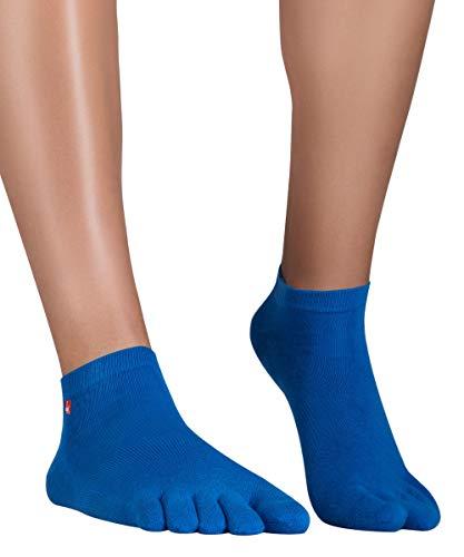 Knitido Track & Trail Ultralite Fresh | Atmungsaktive Sneaker-Zehensocken aus Baumwolle und Coolmax: für Sport. Extra dünn, für Sneaker, Turnschuhe, Barfußschuhe, Größe:35-38, Farbe:Mandarin Blue