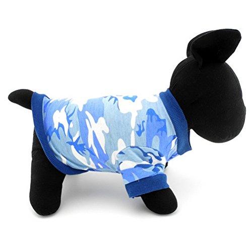 ze Sweatshirts männlich Boy Pet-Shirt für kleine Hund 100% Baumwolle Hund Chihuahua Sommer Herbst Kleidung Apparel Blau ()