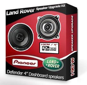 Preisvergleich Produktbild Land Set mit Lautsprechern und Abstandshaltern für Rover Defender, Frontlautsprecher, 190Watt