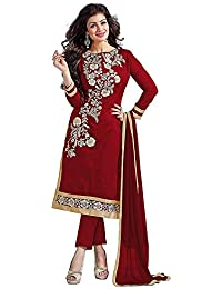 Tiludi Women's Cotton Salwar Suit Set (EW0004_W_SALWAR SUIT_Maroon_Free Size)