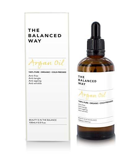 Pure Huile d'Argan 100% bio pour cheveux, peau, corps et ongles, 100ml - pressée à...
