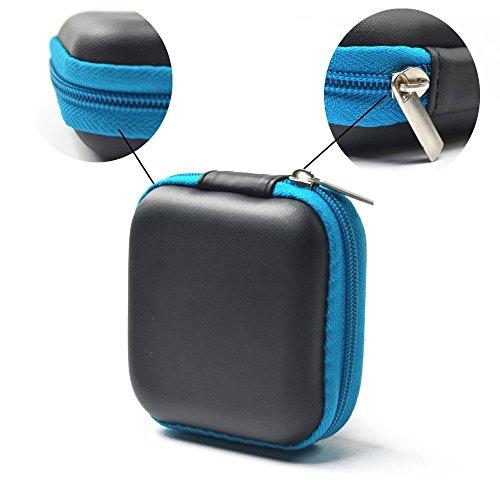 sungpunet Mini Square Aufbewahrungstasche für Kopfhörer USB Kabel SD TF Karten Tasche schwarz thumbnail