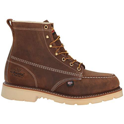 Thorogood 6 Inch Moc Toe Safety Toe Mens - Crazy Horse - 41.5 EU Steel Toe Lineman Boot