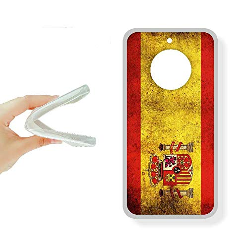 SUPER STICKER Motorola Moto Z Play - Funda Carcasa Gel Flexible, con Dibujo Original, Ref: Bandera Espana