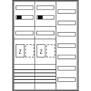 Komplettschrank ZFH/eHZ 2Z1V7 2xSH63A, 5pol ES37NRW65TN