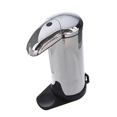 dispensador de jabon - TOOGOO(R)Base Pared Monte Acero Inoxidable Infrarrojo Automatico Sensor Inteligente Jabon & Dispensador del desinfectante Sin contacto Cocina Cuarto de bano Plata