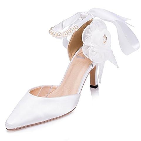 Kevin Fashion , Chaussures de mariage tendance femme - Blanc - blanc, 39.5