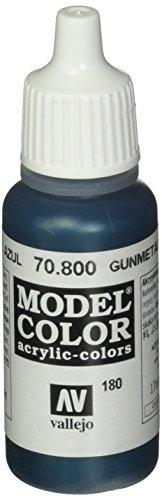Vallejo Model Color Acrylfarbe, 17 ml Metallic Gunmetal Blue