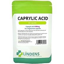 Lindens 500 mg de ácido caprílico-2 PACQUETE 120 cápsulas vegetarianas caprilato de calcio