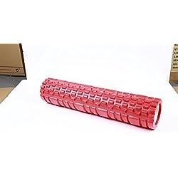 33x 14cm rodillo de espuma para terapia física, liberación miofascial y ejercicio para músculos con suave deep-tissue masaje–mejor para estiramiento, tensión liberación, una pizca de socorro, Pilates y Yoga, rojo