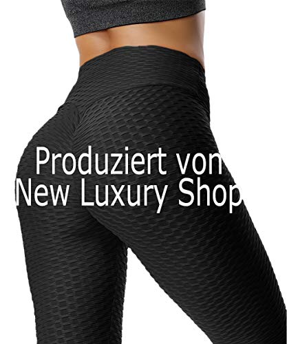 FITTOO Damen Sport Leggings Leggings Yoga Fitness Hose Lange Sporthose Stretch Workout Fitness Jogginghose,L,Schwarz - Bio Yoga Hose