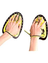 Bain & Fitness à bain d'entraînement natation bain main Planches, M, jaune