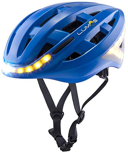 Lumos Kickstart Fahrradhelm, Cobalt Blue, One Size (Led-licht Tippen)