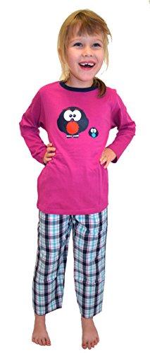 Minze Mädchen Schlafanzug Grösse 116 uni mint pyjama Mädchen baumwolle Mädchen nachtwäsche lang Mädchen-schlafanzug lange schlafanzüge Mädchenschlafanzug lang Mädchen Schleife Schlafy (Nachtwäsche Mädchen Baumwolle)
