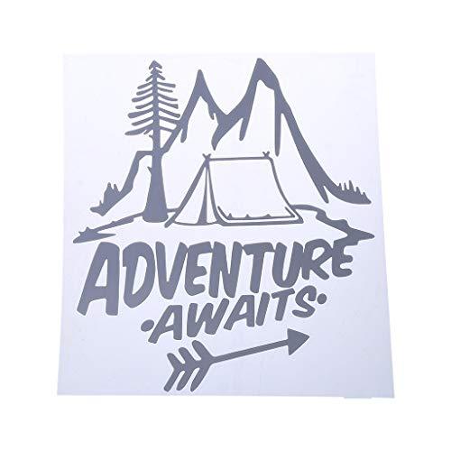 FURU 20 cm * 18 cm Abenteuer ERWARTET A Camping Bestested Vinyl Auto Aufkleber Schöne Fenster Aufkleber