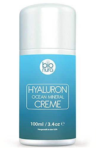 Hyaluronsäure Mineralkomplex Creme für Gesicht, Hände, Nacken und Dekolleté. Hydratisierende...