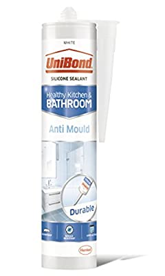 UniBond 2079356 Anti-Mould Sealant/White Silicone Sealant for Kitchen and Bathroom / 1 x 274g Cartridge
