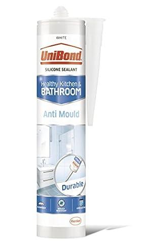 UniBond Anti-Mould Sealant / White Silicone Sealant for Kitchen and