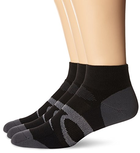 ASICS Herren Intensity Quarter (3 Pack) Socken, Black Assorted, X-Large (Socken Athletische Herren-xl)