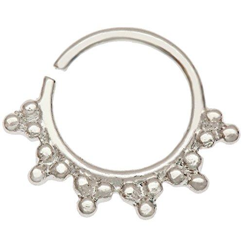 VAGA 316L Chirurgenstahl Nasenring Nasenpiercing Nasen Goldener Piercings Perlen Krone