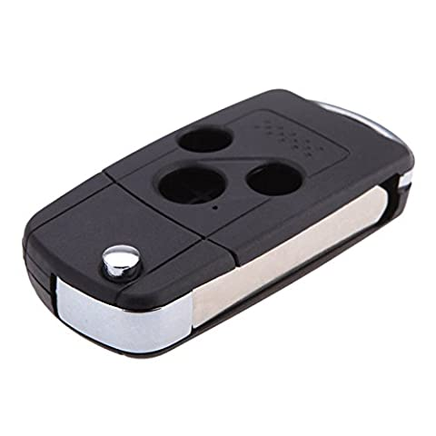 Coquille de cles - SODIAL(R)Retourner le pliage 3 boutons Remplacement