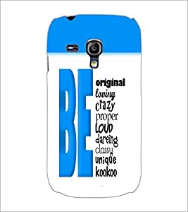 PrintDhaba Quote D-5741 Back Case Cover for SAMSUNG GALAXY S3 MINI (Multi-Coloured)