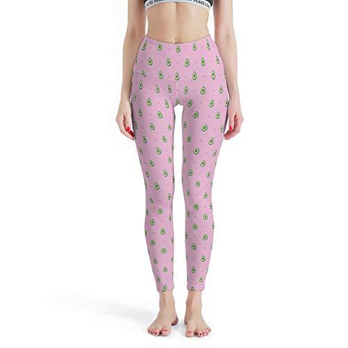O3XEQ-8 Damen Design Yoga Leggings Retro Leichtes Avocado Pink Heart-01 Stretch-Hose Sportgymnastik Laufen Anti Cellulite Leggings Damen – Früchte und Gemüse