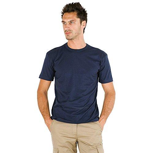 logica-893top-t-shirt-cotone-blu-scuro-maglia-maniche-corte-girocollo-vestibilita-larga-tinta-unita-